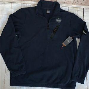 Quiksilver men's waterman half neck sweater navy